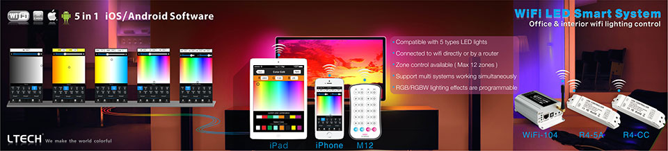 wifi 104 wifi rgbw zone controller compatible with android ios pho